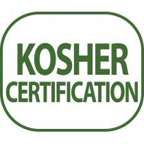 Il prodotto ha ottenuto la certificazione Kosher da parte di un ente rabbinico poiché conforme alle regole religiose della nutrizione del popolo ebraico osservante