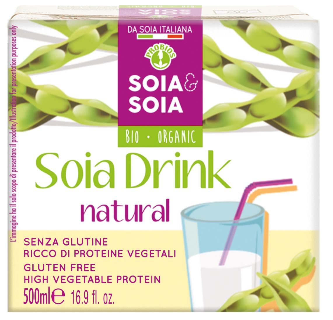 Probios Soia & Soia Drink natural 1 litro