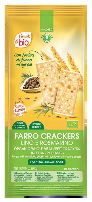 FARRO CRACKERS LINO E ROSMARINO