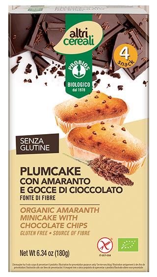 PLUMCAKE CON AMARANTO E GOCCE DI CIOCCOLATO - senza glutine