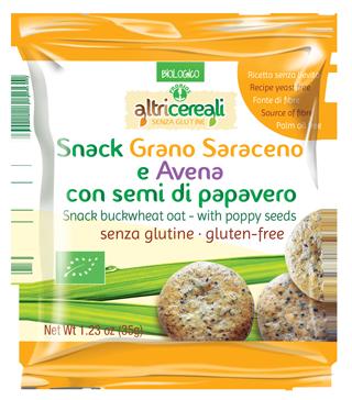 SNACK SARACENO E AVENA - con semi di papavero