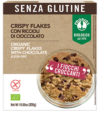 CRISPY FLAKES CON RICCIOLI DI CIOCCOLATO - senza glutine