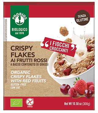 CRISPY FLAKES AI FRUTTI ROSSI - senza glutine