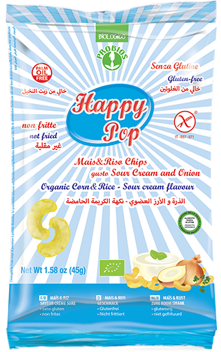 HAPPY POP SOUR CREAM AND ONION - senza glutine