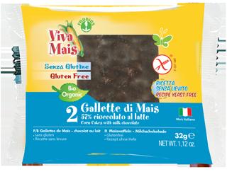 GALLETTE DI MAIS RICOPERTE DI CIOCCOLATO AL LATTE - senza glutine