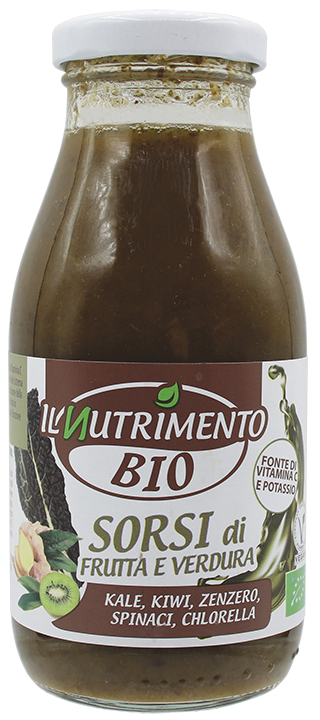 VERDE - Kale kiwi Zenzero Spinaci e Chlorella